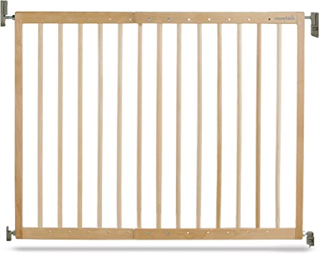 Munchkin Barrera de seguridad de madera, con fijación a la pared, 63.5-106 cm: Amazon.es: Bebé