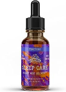 Sleep Care Tincture (Valerian Root, Brahmi Herb, Passion Flower) Organic Herbal Extract, Sleep Care Supplements
