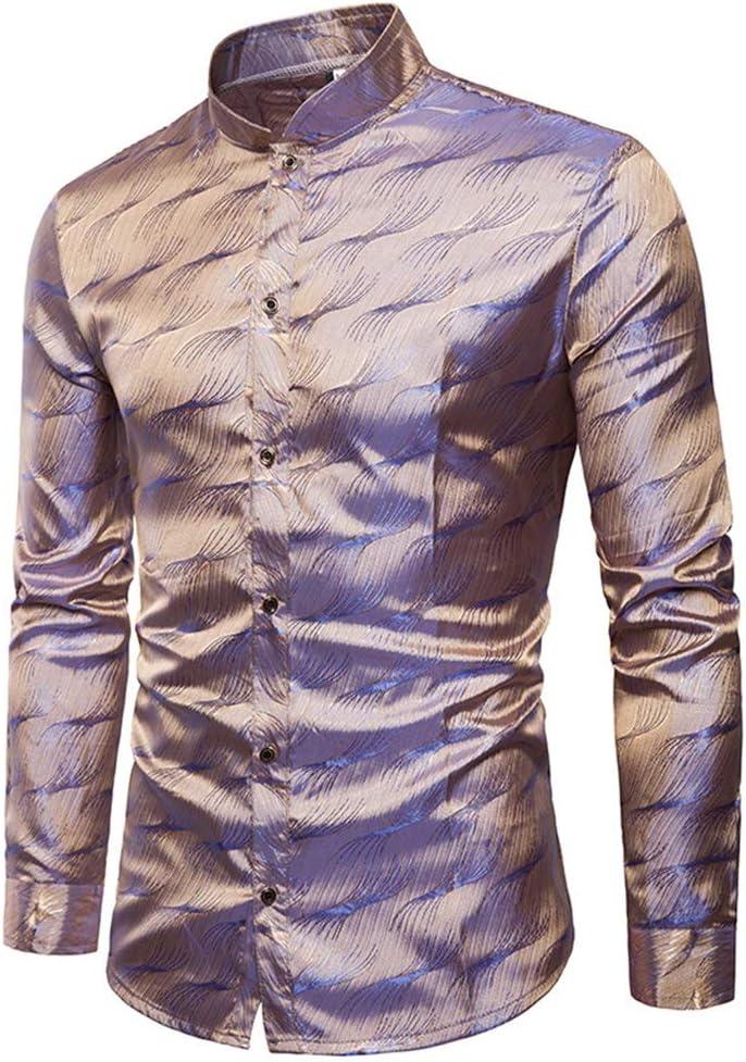 Melodycp Camisa de Ajuste estándar para Hombre Tencel para ...
