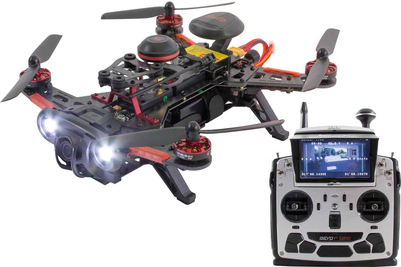 Dron cuadricóptero de carreras
