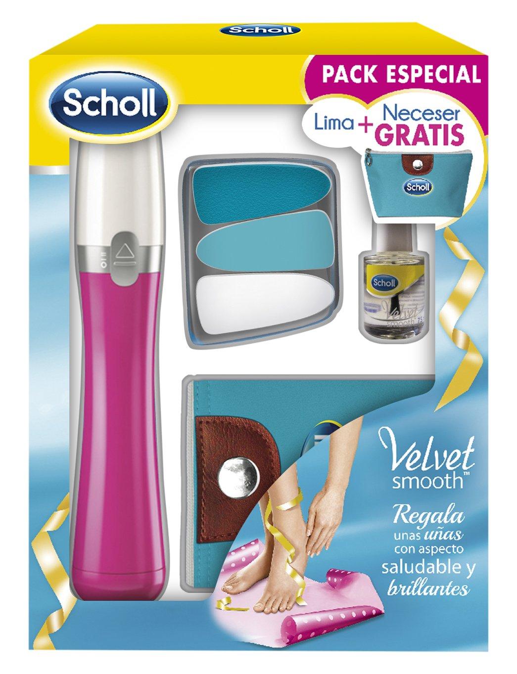 Scholl Lima Electrónica para Uñas y Cutículas Azul: Amazon.es: Belleza