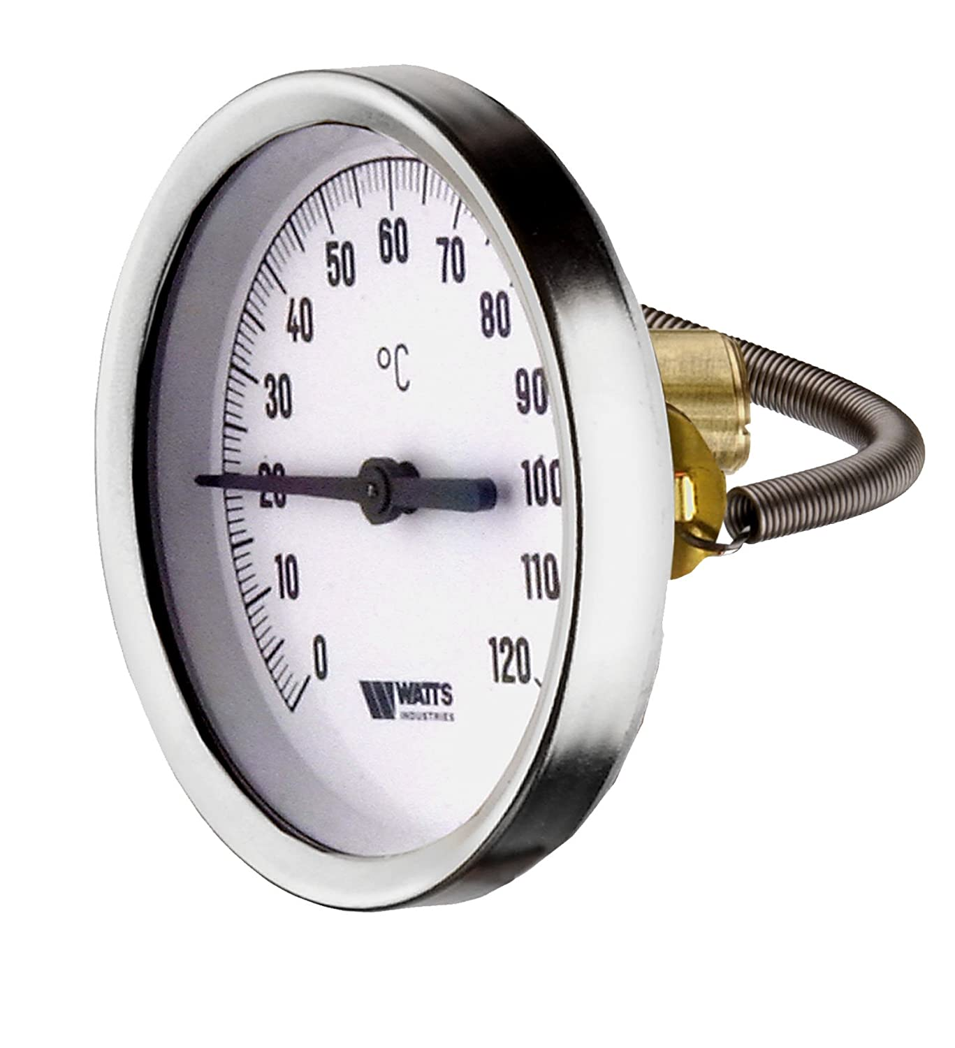 Anlege Thermometer Zeigerthermometer 0-120°C 63 mm Anlegethermometer Bimetall