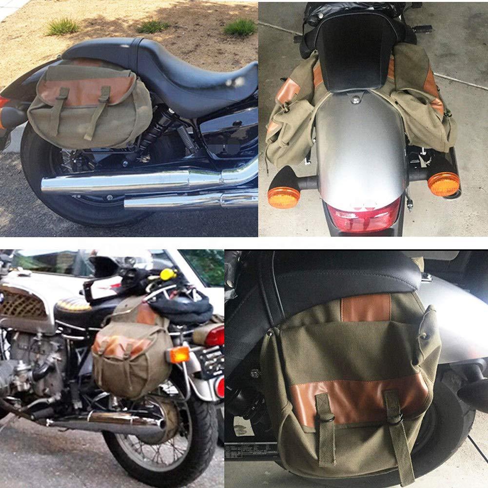 SayHia Linke Linke Seitentasche aus Leder Braune Seitentasche aus Leder Satteltaschen Satteltaschen 2 Taschen
