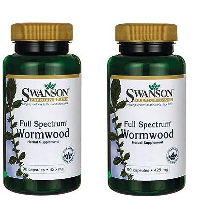 Swanson Wormwood GI Gut Health Microbial Balance Support Supplement Artemisinin 425 mg 90 Capsules 2 Pack