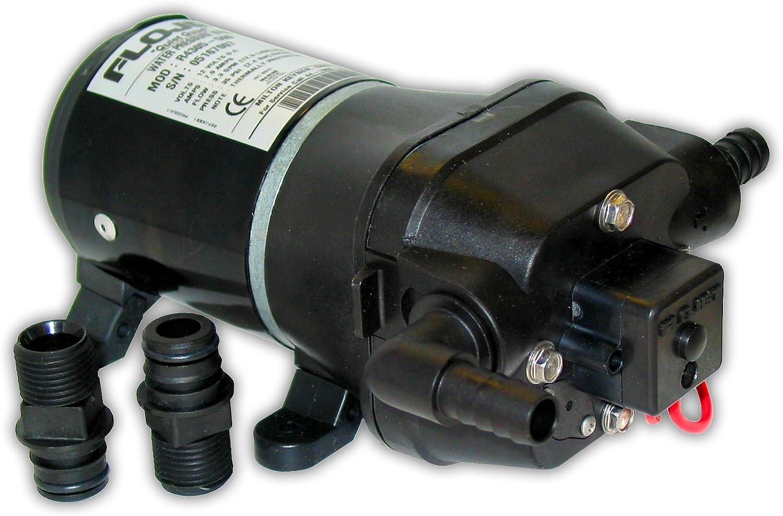 Flojet - Sistema de presión de Agua Marina, 04405143A, Negro, 12 Volt
