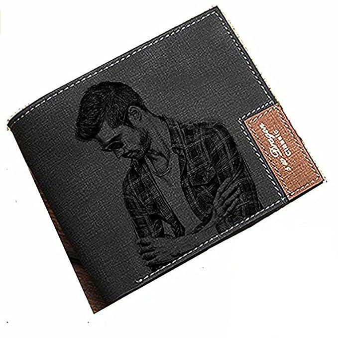 Amazon.com: Monedero personalizado para hombre con foto de ...