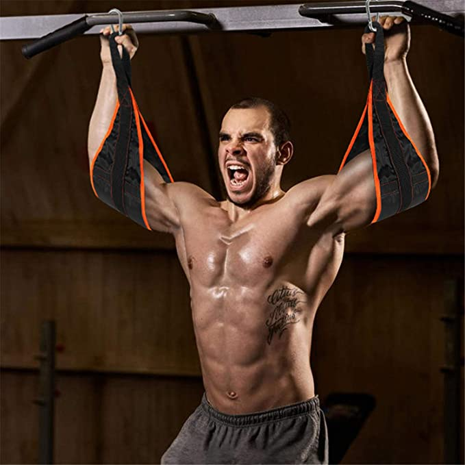 AB SLINGS AERO-ACTIVE Ab Straps Chin Up Bar Gym fitness Leg Raises