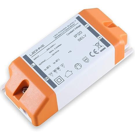 -Transformador de luz LED, de 240 a 12 V, con bloques terminales, de 0,5 a 12 W/240 V CA a 12 V CC-CA, sin interferencias con Wi-Fi o DAB