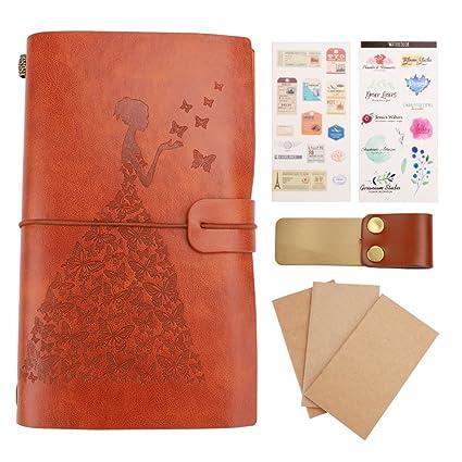 Diario de Viaje de Cuero Vintage Cuaderno de cueros ...