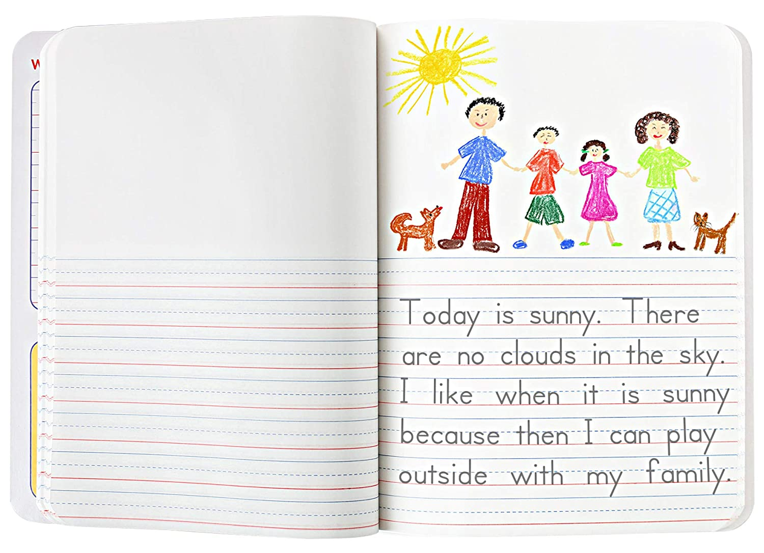 Creative Story Notebooks For Kids 9 3//4 in by 7 1//2 in. 200 Pages Mead Primary Journal Kindergarten Writing Tablet 12 PACK of Primary Composition Notebook For Grades K- 2 100 Sheets