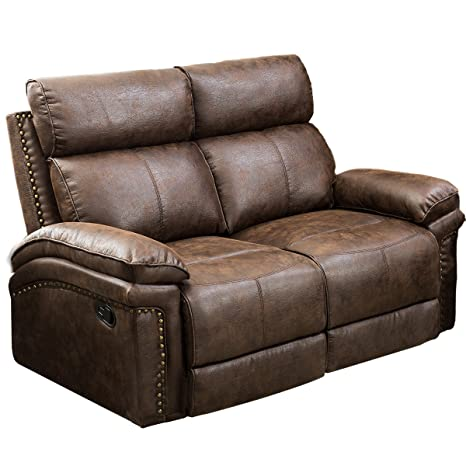 Amazon.com: Leather Sectional Sofa Reclining Sofa Couch ...
