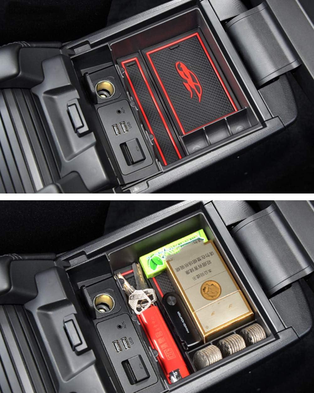Para M azda CX-4 Caja de almacenamiento del apoyabrazos Con tapete antideslizante Car Central Consola interior para reposabrazos