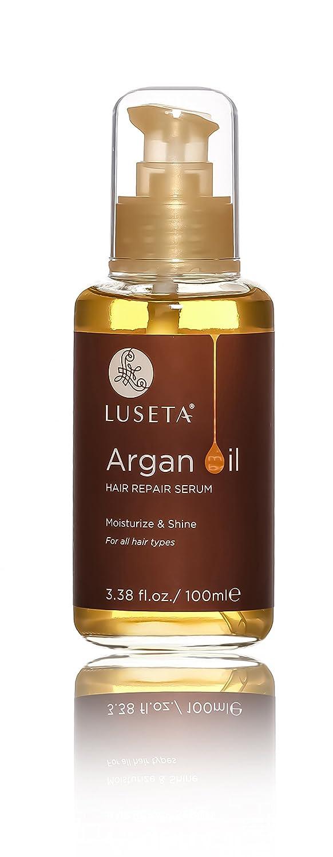 Luseta - Siero riparatore per capelli all'olio di argan, 100 ml, dona morbidezza e splendore ai capelli danneggiati dal calore e dai prodotti chimici, privo di fosfati e parabeni