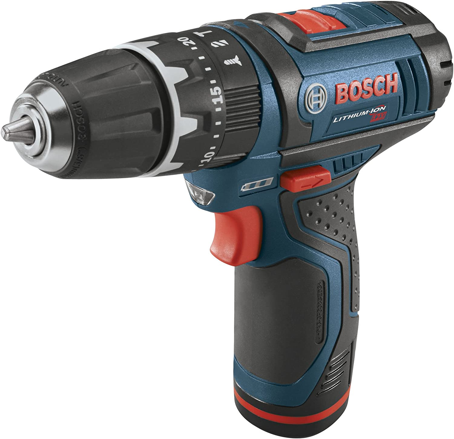 Bosch PS130-2A 12-Volt Lithium-Ion Ultra-Compact Hammer Drill Driver Kit, 3 8-Inch