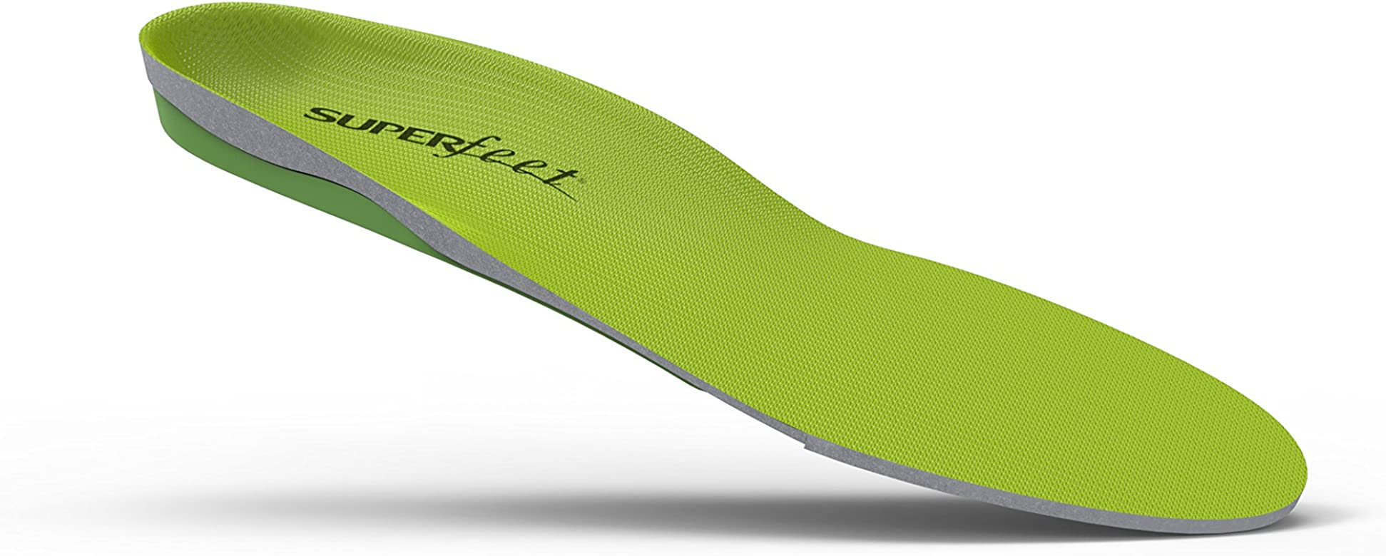 Superfeet GREEN Insoles, Professional-Grade High Arch Orthotic Insert for Maximum Support, Unisex, Green