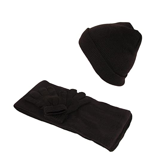 Amazon.com  CTM Kids  Stretch Hat Gloves and Scarf Winter Set 60d2e8623660