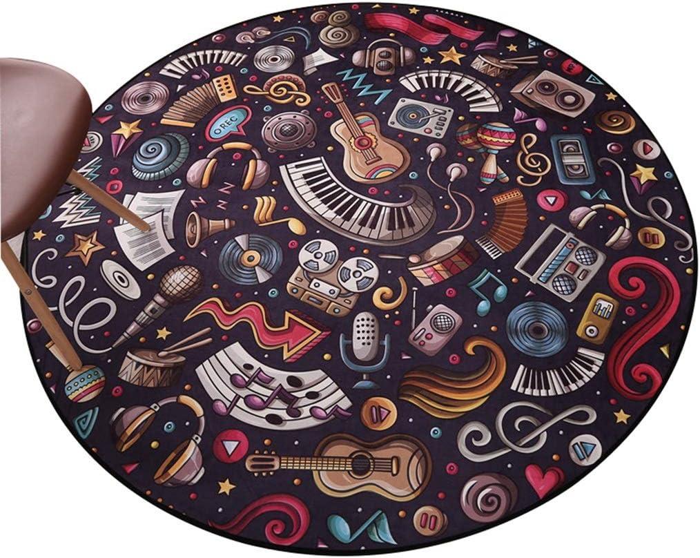 Tapis ordinaire /à poils courts Color : A, Size : Diameter80cm tr/ès doux la chambre /à coucher la salle /à manger ou la chambre denfants id/éal pour le salon