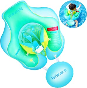 PEFECEVE Baby Inflatable Swimming Pool Float - 2019 Upgrade Safety Approved Leakproof Infants Toddlers Children Waist Ring Pool Toys Bathtub Swim Trainer for Age of 6-36 Months, Large