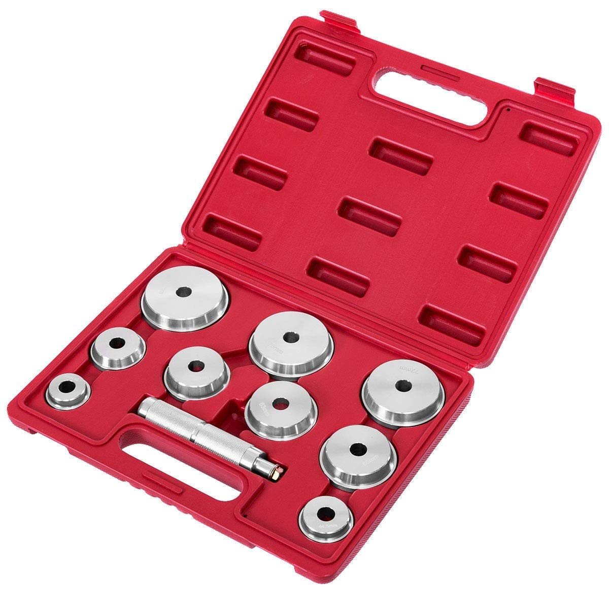 King77777 10 pcs Wheel Bearing Race and Seal Driver Set Machined Aluminum Construction, New, by King77777