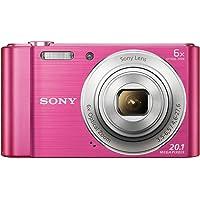 Sony DSC-W810 Fotocamera Digitale Compatta Cyber-shot, Sensore Super HAD CCD da 20,1 Megapixel, Obiettivo Sony con Zoom Ottico 6x, Rosa