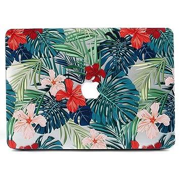AQYLQ Funda MacBook Pro 13 2017 2018 Plástico Funda Dura Carcasa para MacBook Pro 13 con/sin Touch Bar (A1989 / A1706 / A1708) - Hojas de Palma y ...