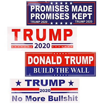 Fall 2020 Decals.Goldenlight 25pcs Donald Trump Stickers And Decals For Cars 2020 Supporting President Trump Truck Bumper Sticker Trump 2020 No More Bullshit Build The