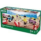 BRIO 33796 - Großer Pferde-Parcours, 25-teilig, Bauernhof Tiere