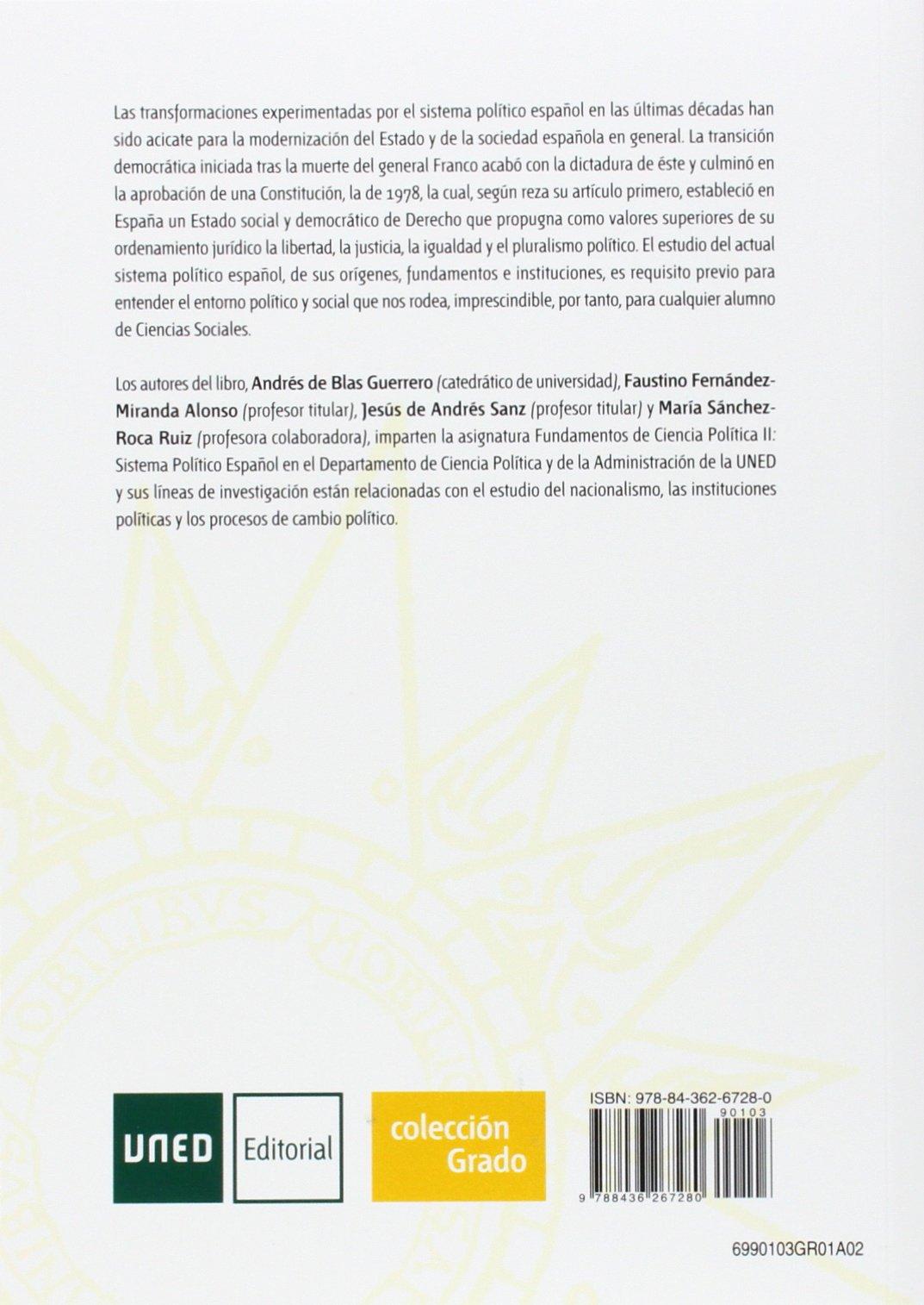 Sistema político español: Andrés de Blas Guerrero: 9788436267280: Amazon.com: Books