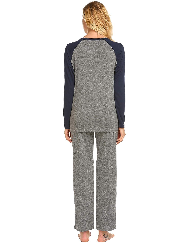 Ekouaer Maternity /& Nursing Pajama Set,Patchwork Breastfeeding Sleepwear S-XXL
