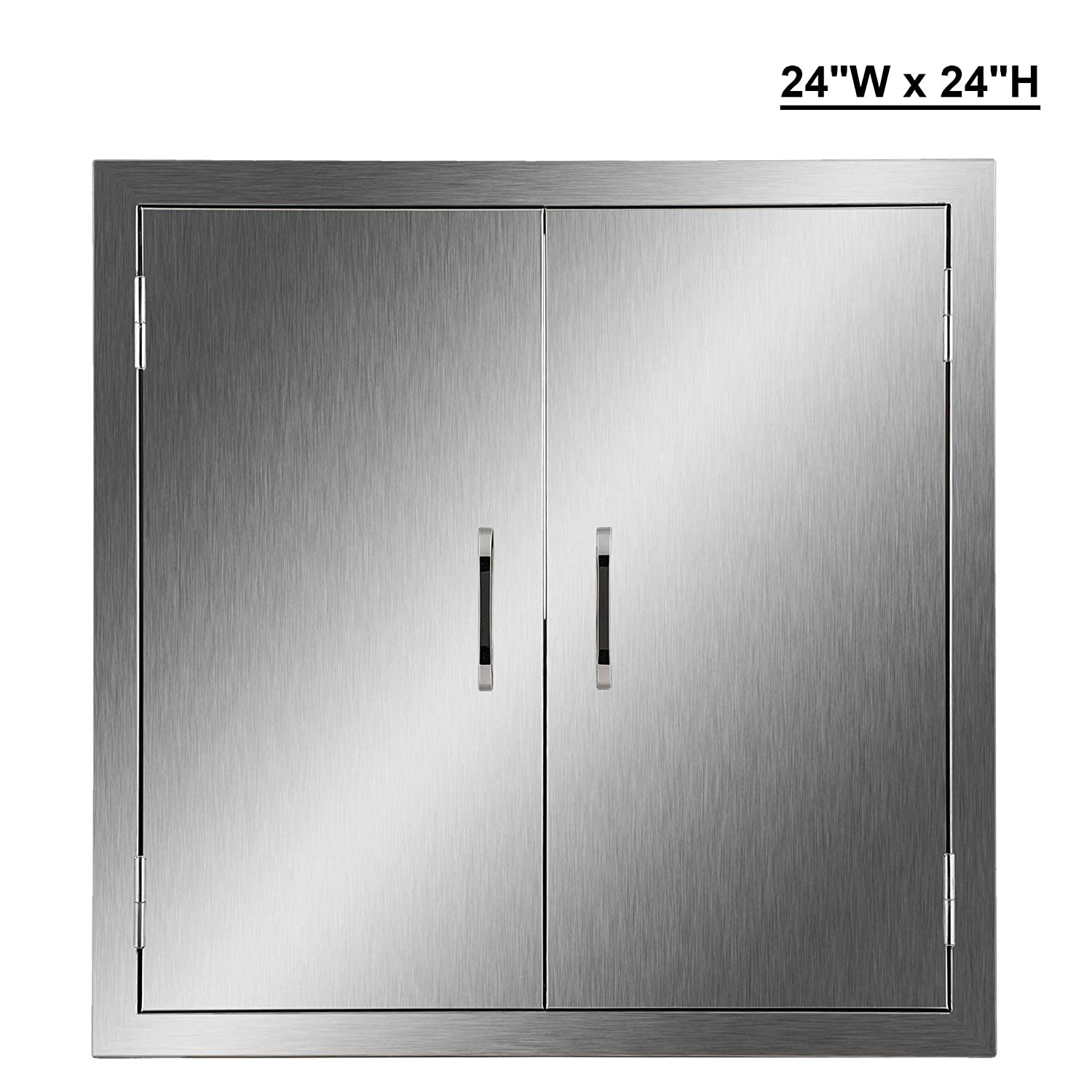 Co z outdoor kitchen doors 304 brushed stainless steel double bbq access doors for outdoor kitchen commercial bbq island grilling station
