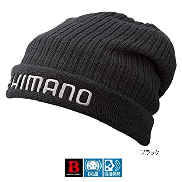 Shimano REATHHYPER+℃ Fleece Knit Cap - Black  Amazon.co.uk  Sports    Outdoors 850a2e54912e