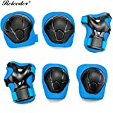 Releeder Kids Child Multi Sports Protective Gear Set, Knee and Elbow Pads with Wrist Guards Toddler for Cycling, Bike, Rollerblading, Skating, Volleyball