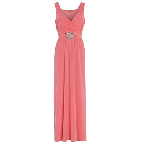 Blush Avenue® Womens Sleeveless Buckle Maxi Evening Dress