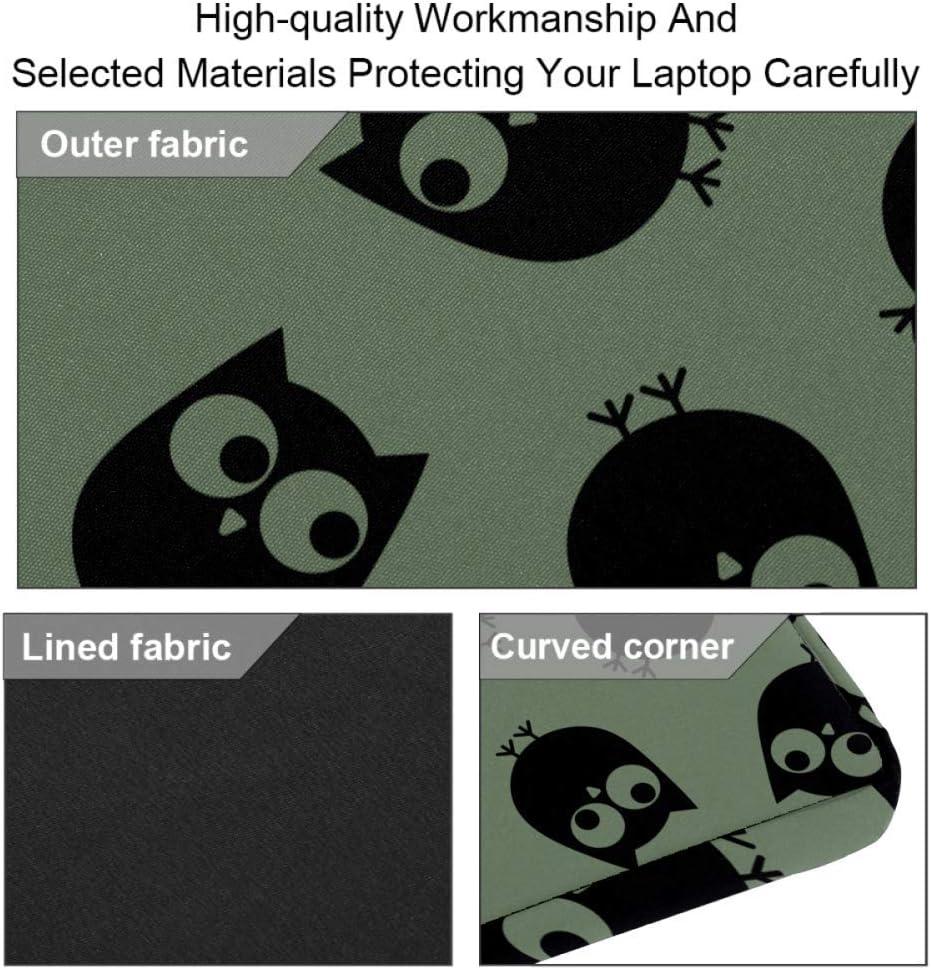 Owls On The Khaki Background Laptop Case Canvas Pattern Briefcase Sleeve Laptop Shoulder Messenger Bag Case Sleeve for 13.4-14.5 inch Apple Laptop Briefcase