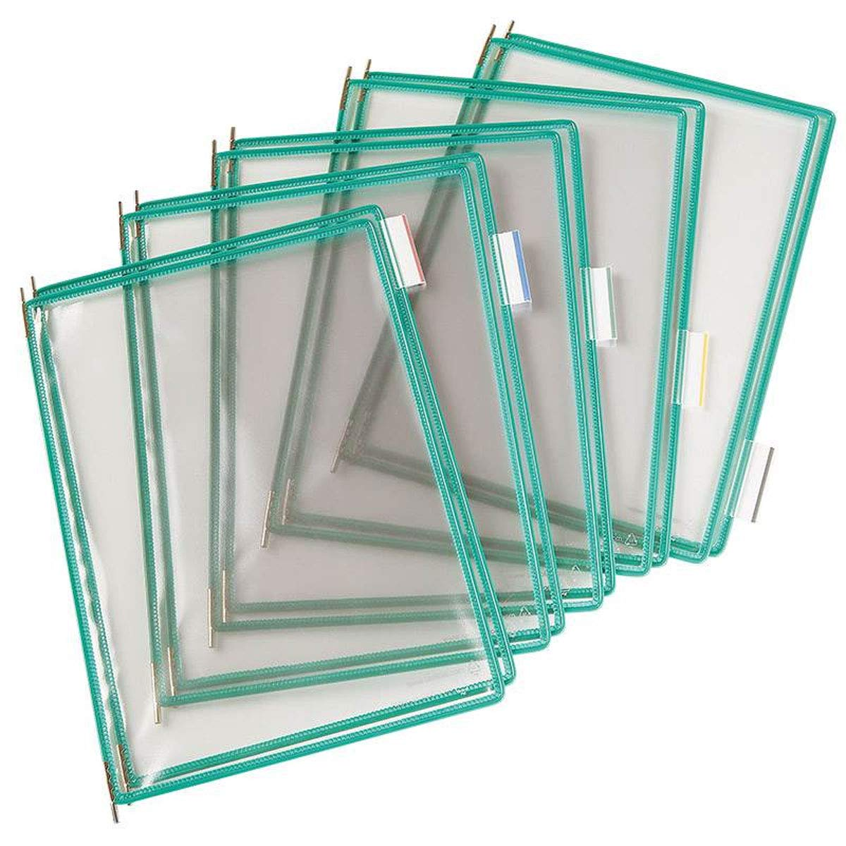 Tarifold #P050 Pivoting Pockets for Wall, Desk or Rotary Systems, Green, 10/Pack