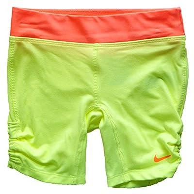 Nike Girls Dri-FIT Running Tennis Skirt Shorts Size 6X Liquid Lime
