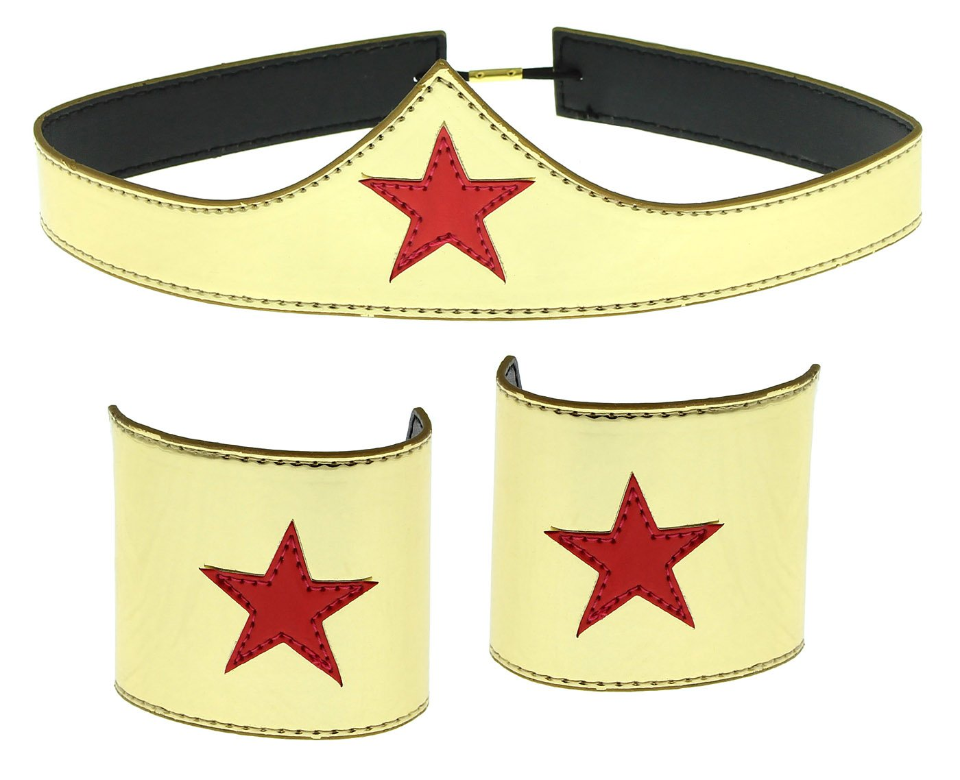 Wonder Woman Cuff and Tiara Adult Cosplay Costume Set