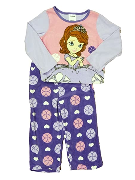 Disney Sofia The First Toddler Girls Purple Fleece Sleepwear Set Pajamas PJs