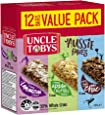 UNCLE TOBYS Aussie Favourites Variety Muesli Bars, 12 Bars Value Pack, 375g