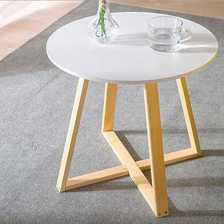 ACZZ Mesa auxiliar para sofá, mesa redonda retro de café/comedor ...