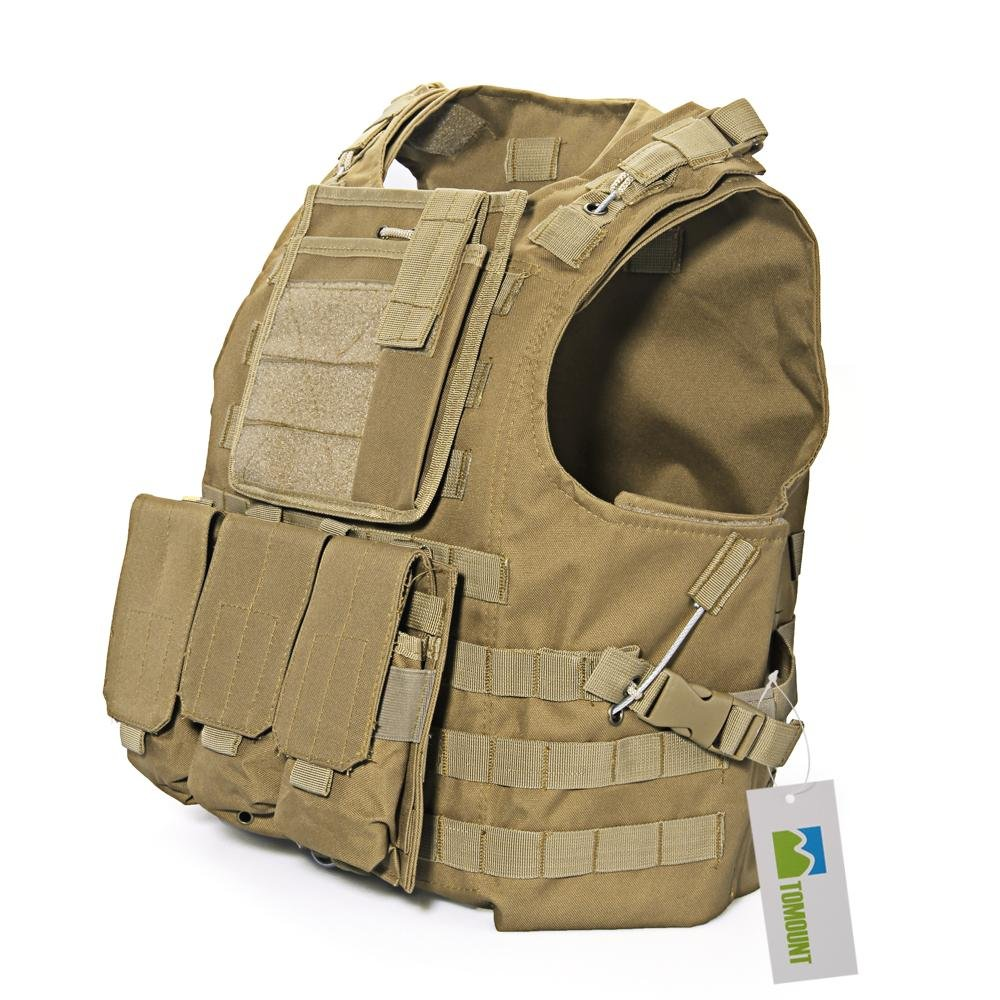 TOMOUNT, gilet tattico da combattimento o paintball, nylon 600 D, traspirante, Deep camo ebuyukmart