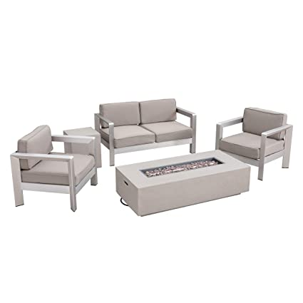 Amazon.com : Great Deal Furniture ALEC Outdoor 4-Seater ...