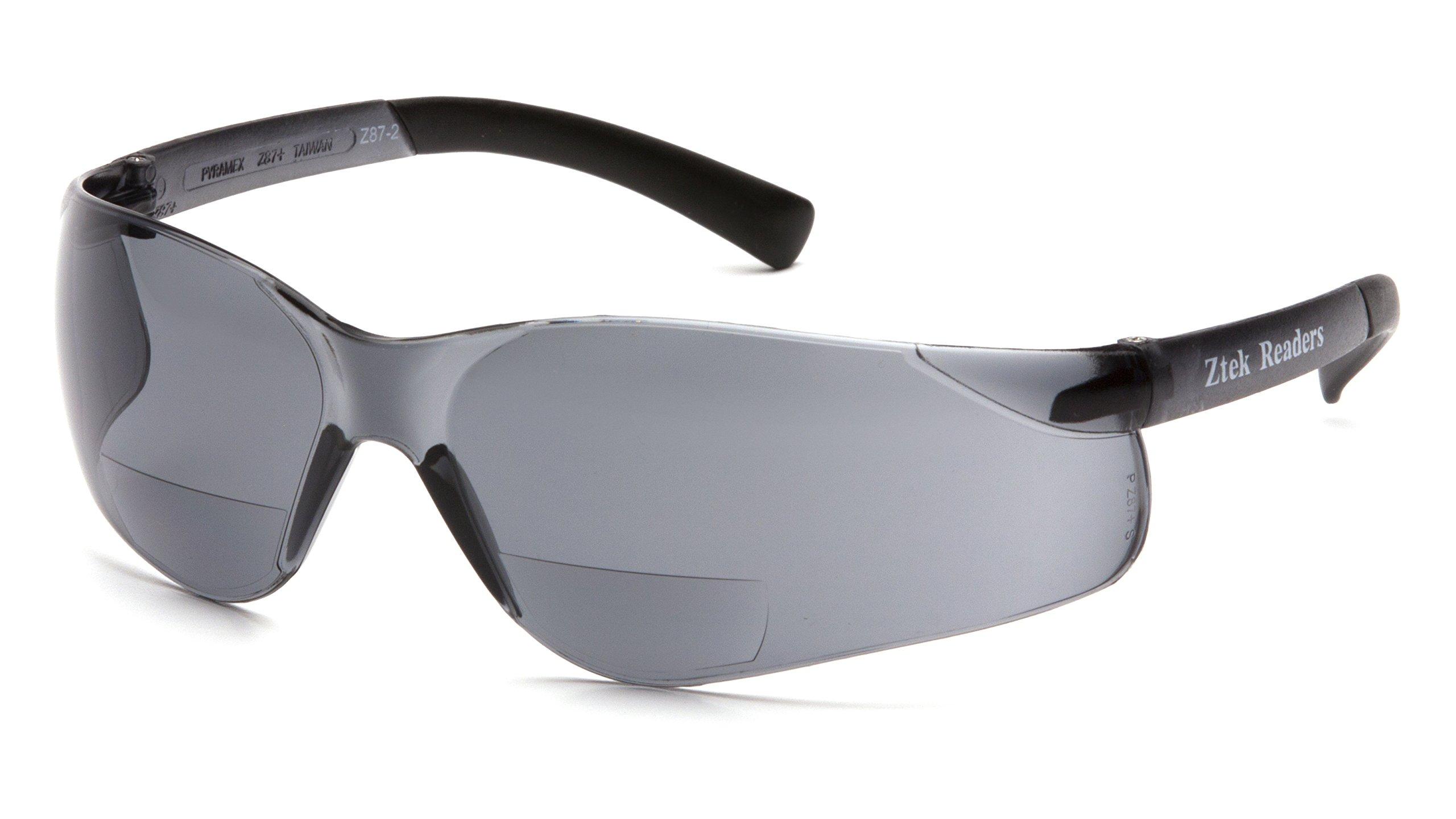 Pyramex S2520R25 Ztek Readers Safety Glasses, + 2.5 Lens, Gray