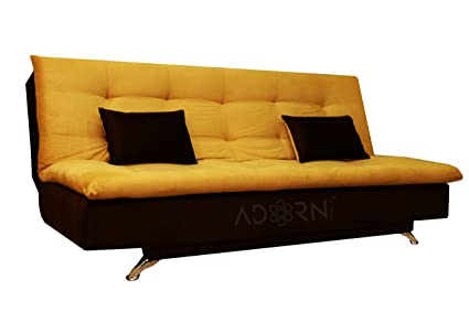 adorn india aspen 3 seater sofa cum bed brown and gold amazon in rh amazon in Sofa Covers Loveseat Sofa Beds for Small Rooms