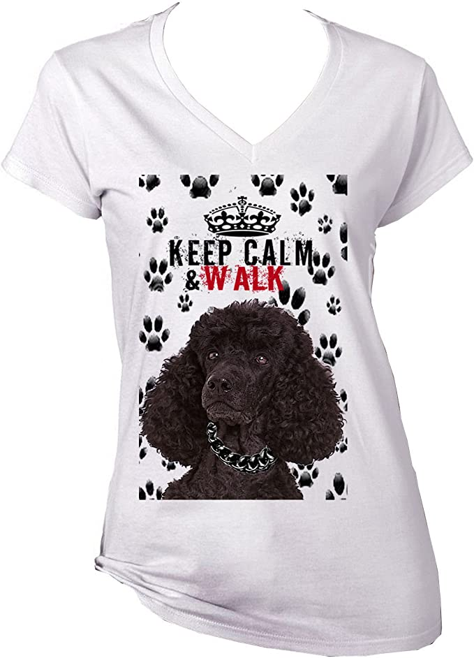 /'Keep Calm and Walk the Poodle/' Mens funny Pet Dog Gift T-shirt S-XXL