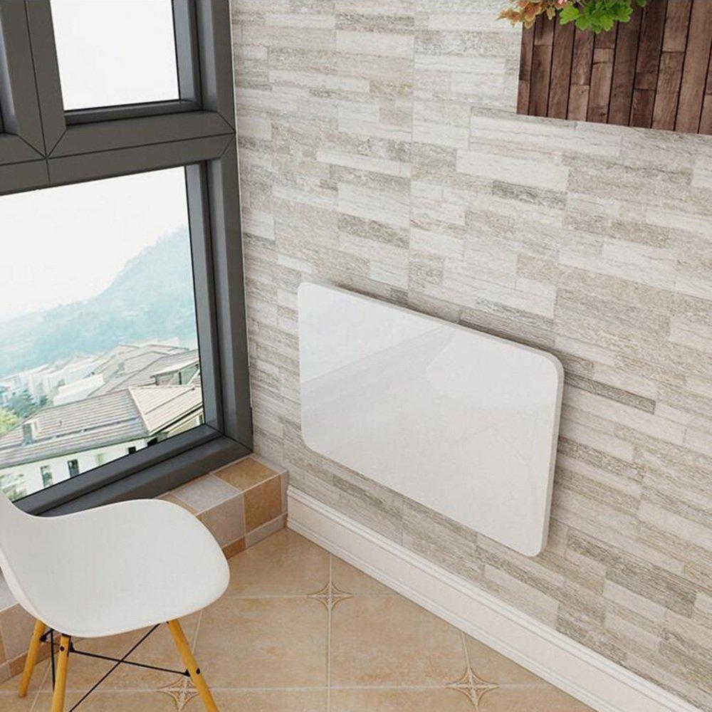 コンピュータデスクノートテーブル壁掛け式折り畳みテーブルダイニングテーブル壁テーブル13仕様 (色 : 白, サイズ さいず : 120 * 50) B07HHCM52W  白 120*50