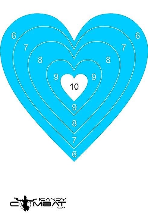 Amazon blue heart paper bullseye shooting target sports blue heart paper bullseye shooting target altavistaventures Image collections