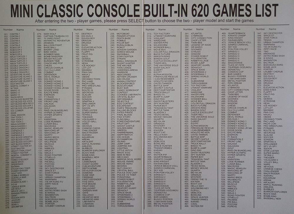 Family Mini Consola Construido 620 Videojuegos Salida AV Con ...