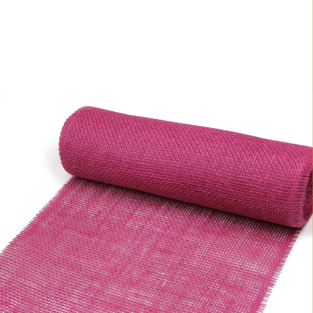 Deko und Band jute table runner - col. 019 pink - 300 mm/5m - 29300-300-5-019 Deko AS GmbH Dropship