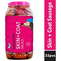Drools Absolute Skin + Coat Sausage Dog Supplement -Jar, 32 Pieces